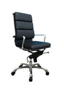 Plush High Back Desk Chair / Black