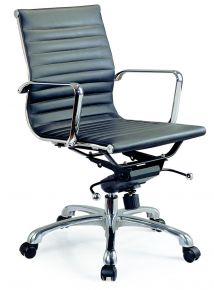 Comfy Low Back Desk Chair / Black