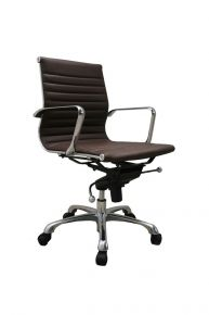 Comfy Low Back Desk Chair / Brown